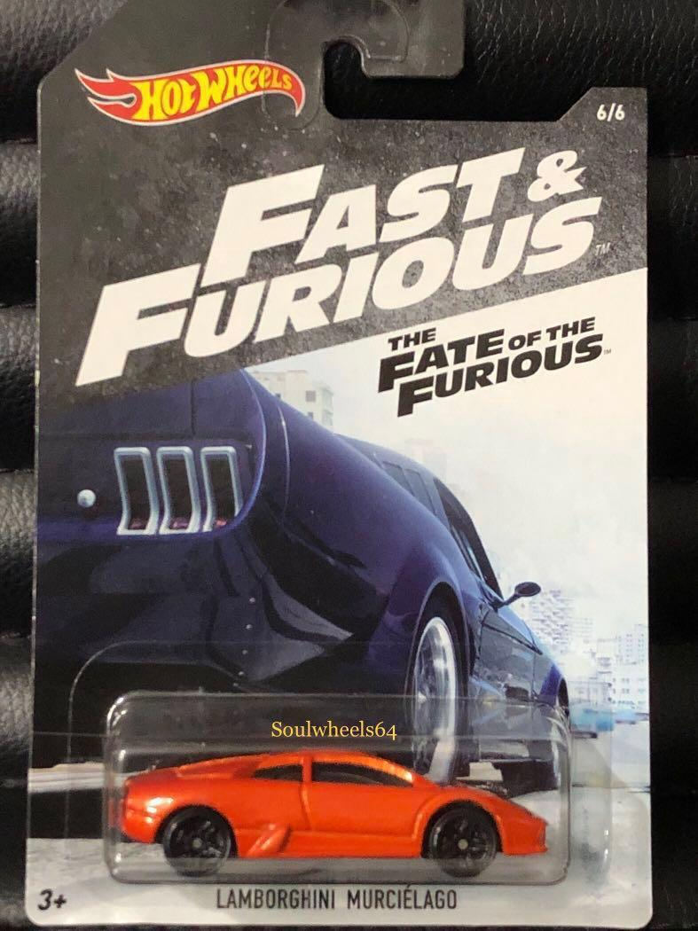 Hot Wheels Fast /& Furious The Fate of the Furious Lamborghini Murciélago orange