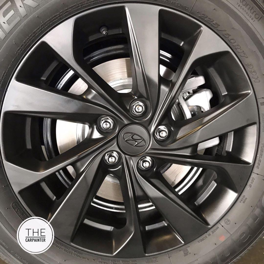 Hyundai Tucson Logo Emblem Rims Plastidip Spray Service Plasti Dip Car Accessories Accessories On Carousell