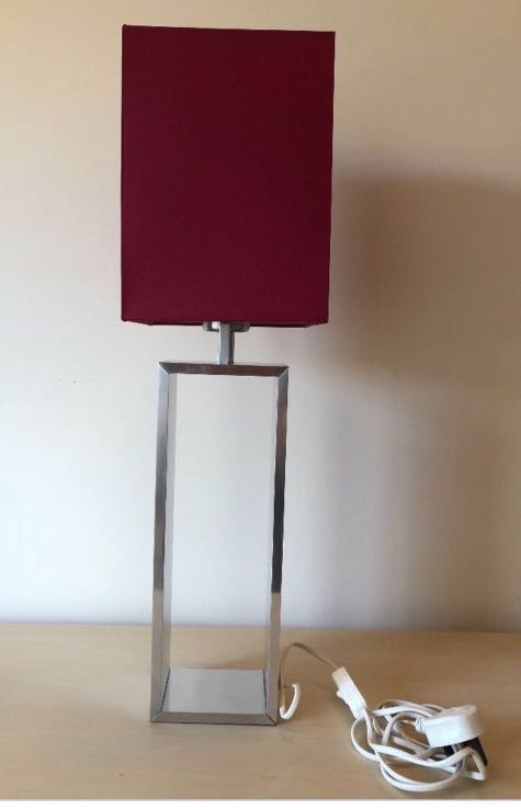 Ikea Table Lamp Torsbo Red Shade, Ikea Red Table Lamps