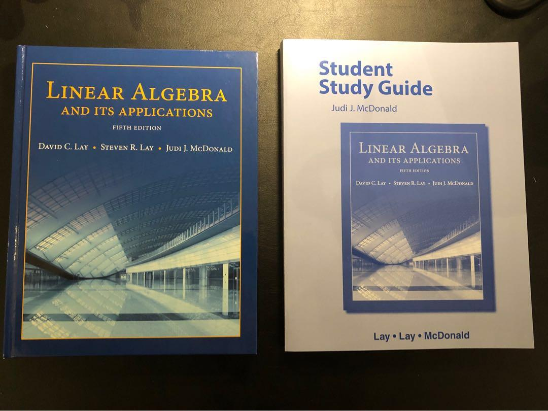Linear Algebra and it's Applications 5th edition, Lay, McDonald