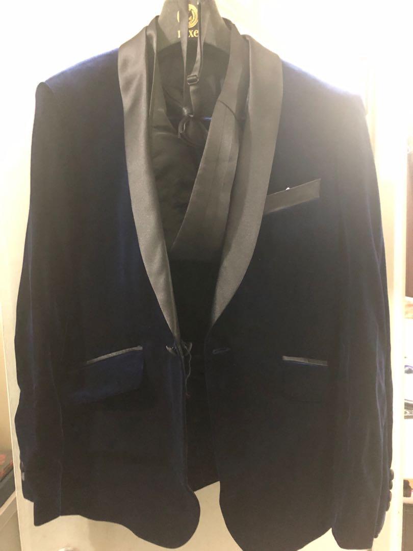 Luex 名牌男裝禮服 藍色
