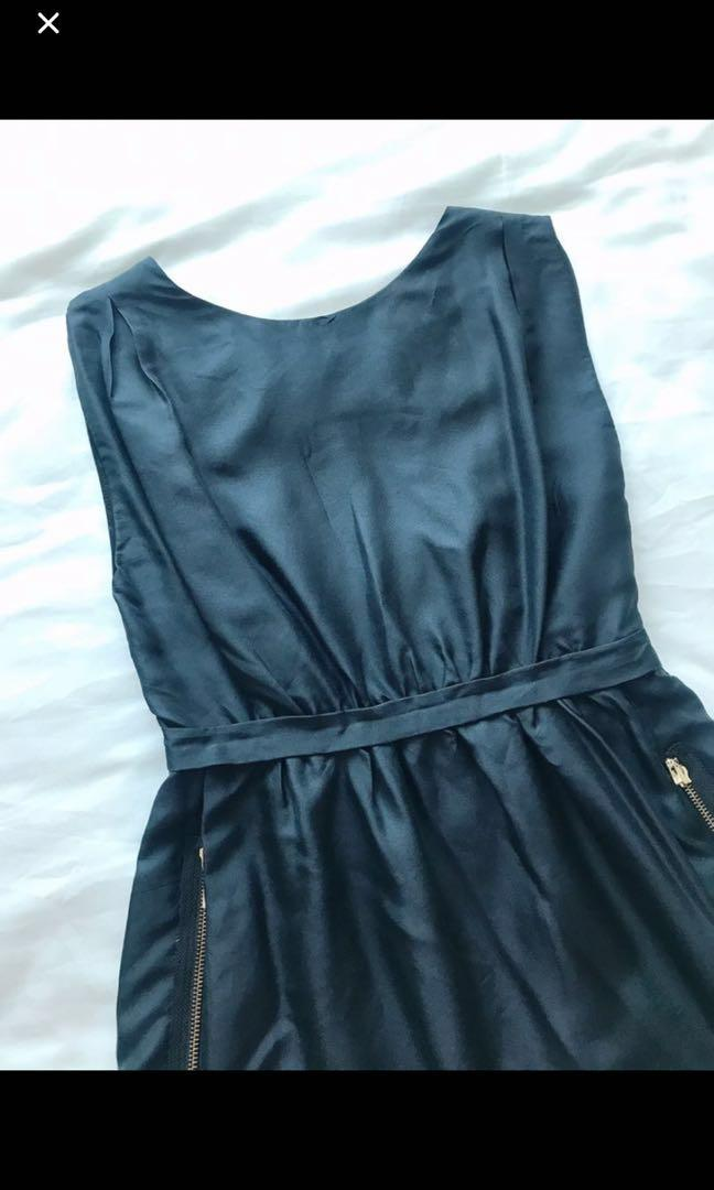 MANGO Moment Black Party Dress
