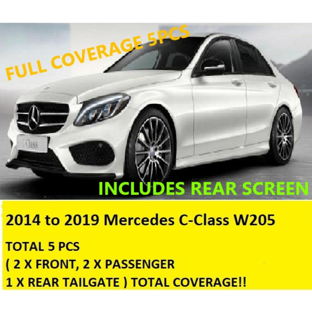 Mercedes Benz C Class W205 2014 Up Customised Sunshades 5Pcs include rear  Full Coverage