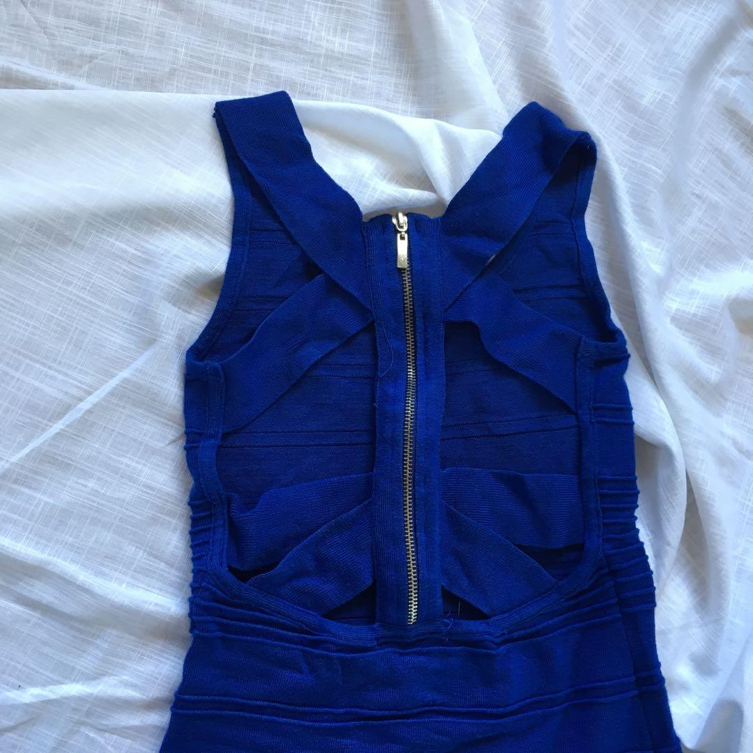 mini blue bodycon dress #swapCA