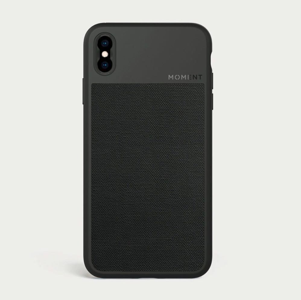 new product a9501 e39f1 Moment Iphone XS MAX Case (Black Canvas)