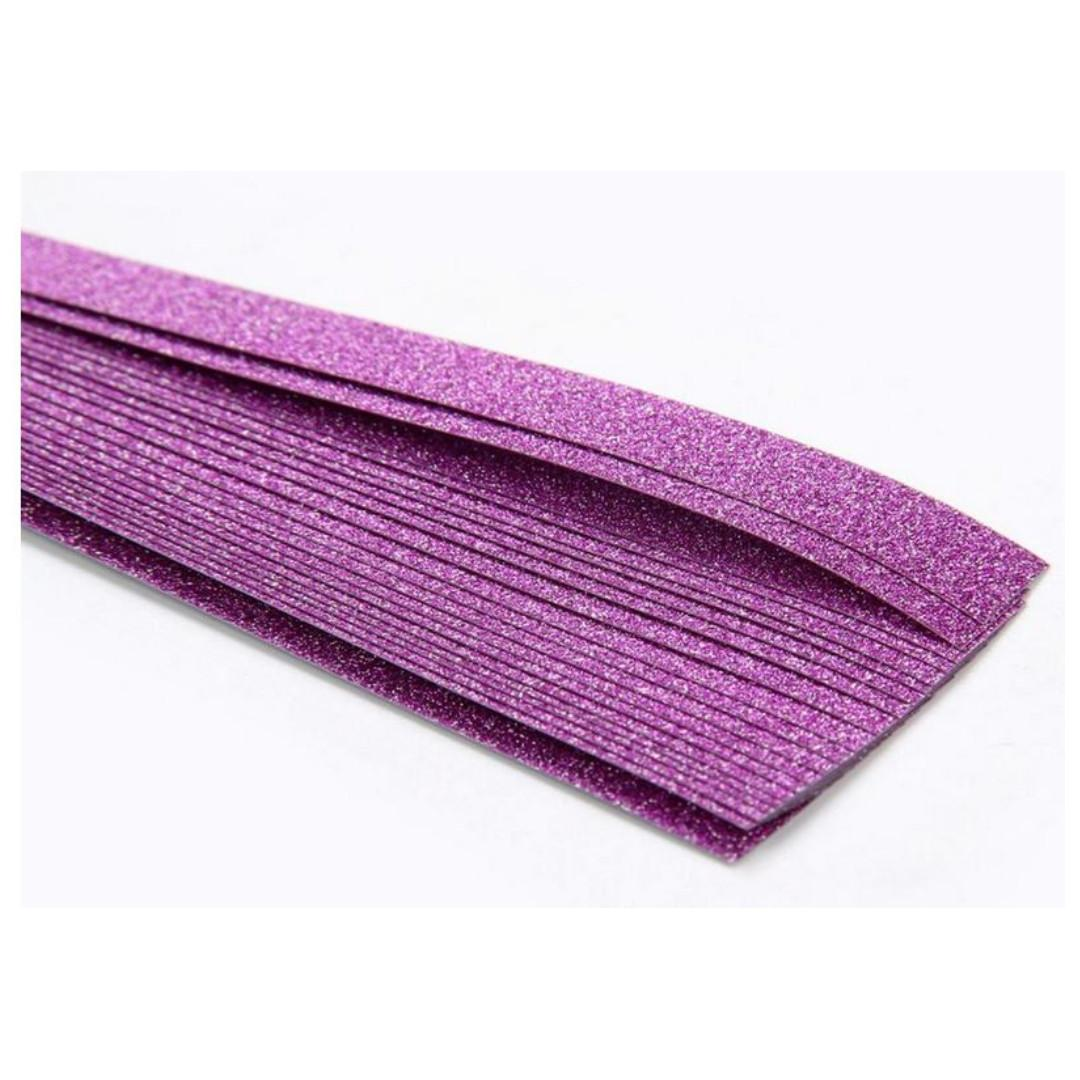 New in packet 20 pieces strips origami star paper glitter purple