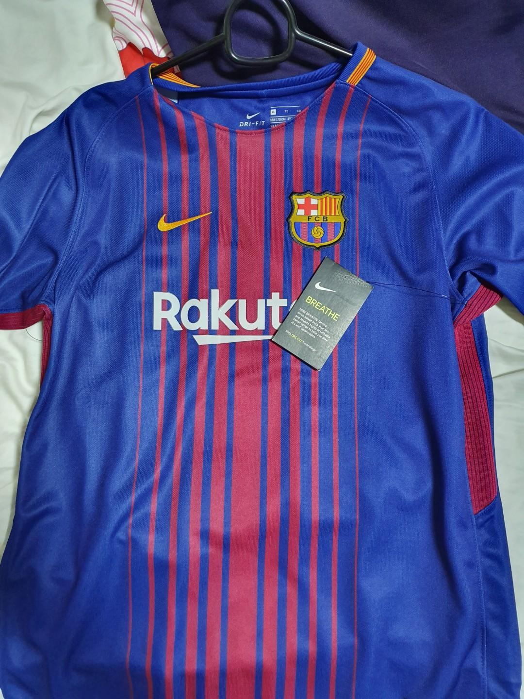 super popular d7d55 68d05 Nike Barcelona Jersey With Messi Printing Authentic, Sports ...