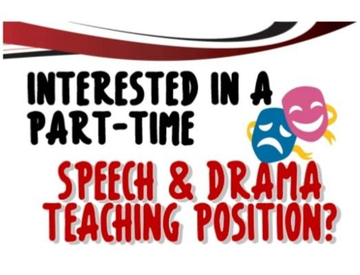 Part Time Speech & Drama Instructor