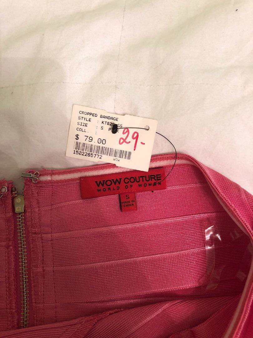 Pink bandeau/tube top