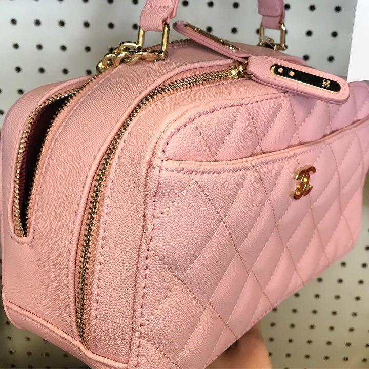 Pink Chanel bag with chain