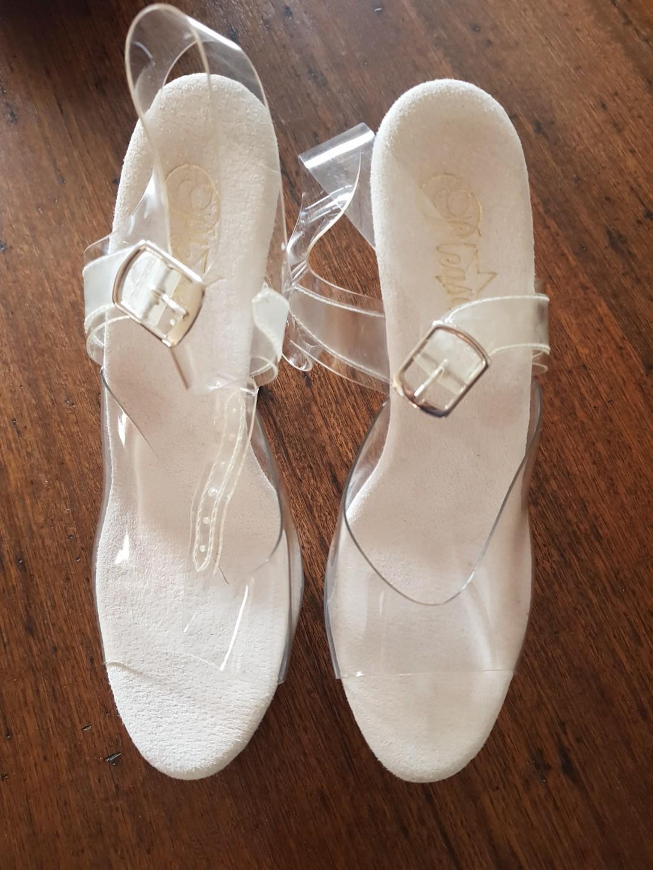 Pleaser - clear pole dancing stripper heels LIKE NEW size 40