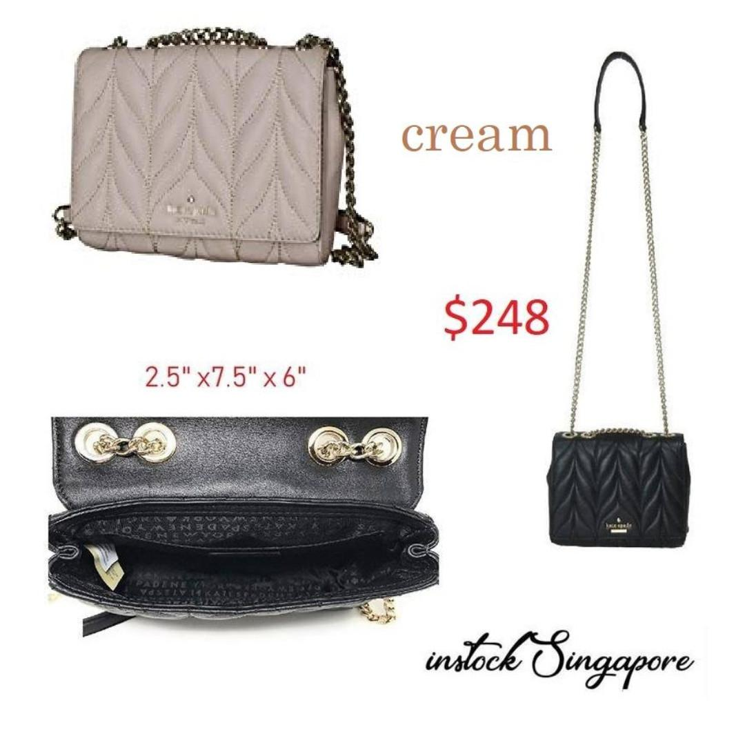 READY STOCK authentic new  KATE SPADE Mini Emelyn Briar Lane Quilted Wkru5572 Chain