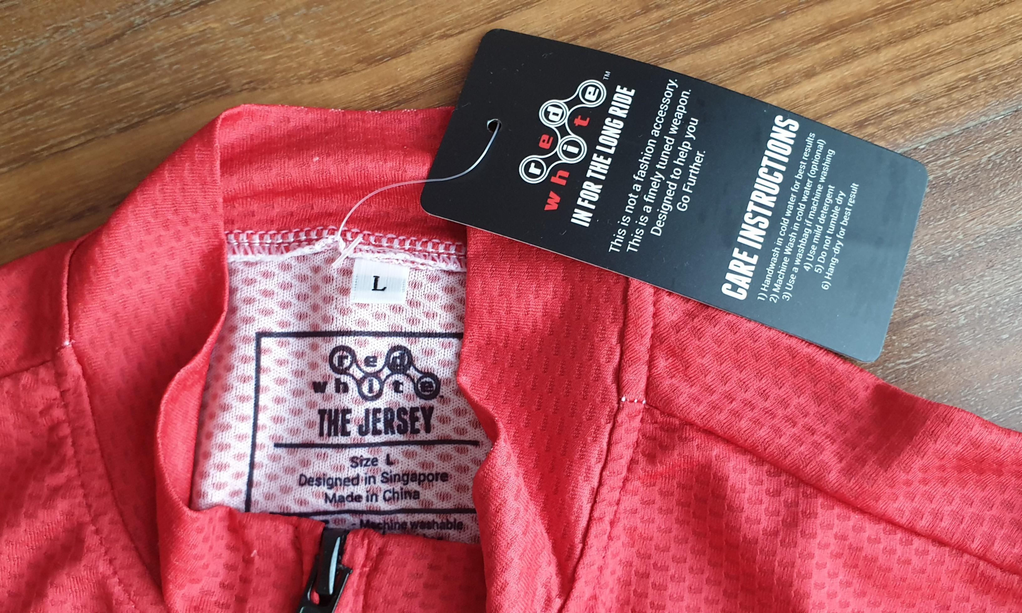 RedWhite Jersey & Gloves