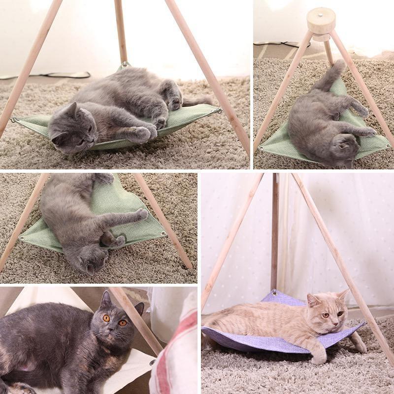 Relaxed Pet Hammock in Khaki