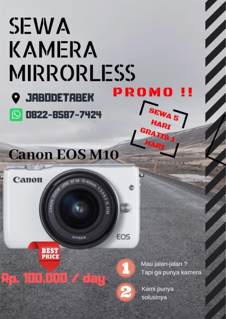 Sewa kamera harian canon m10