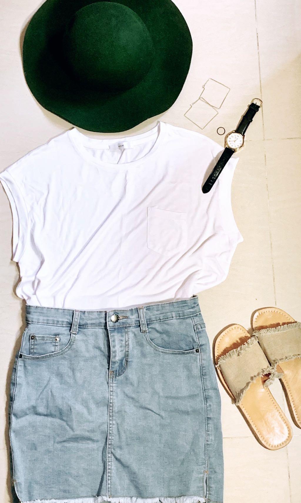 Simple white tank top