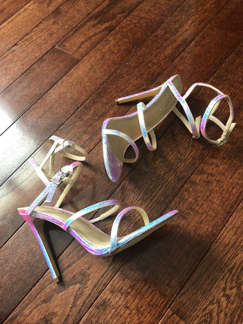 Size 8 brand new chrome heels