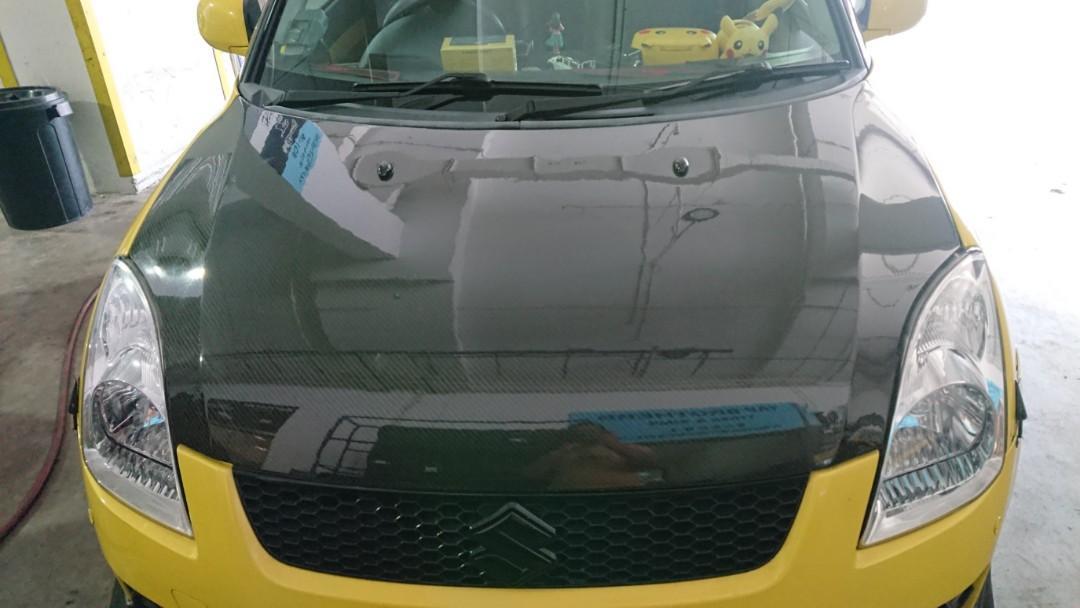 Suzuki swift sport Seibon CF bonnet ZC31S, Car Accessories