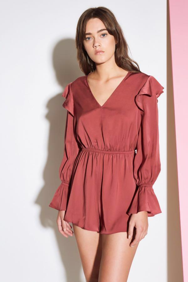THE FIFTH LABEL Rooftop Long Sleeve Playsuit