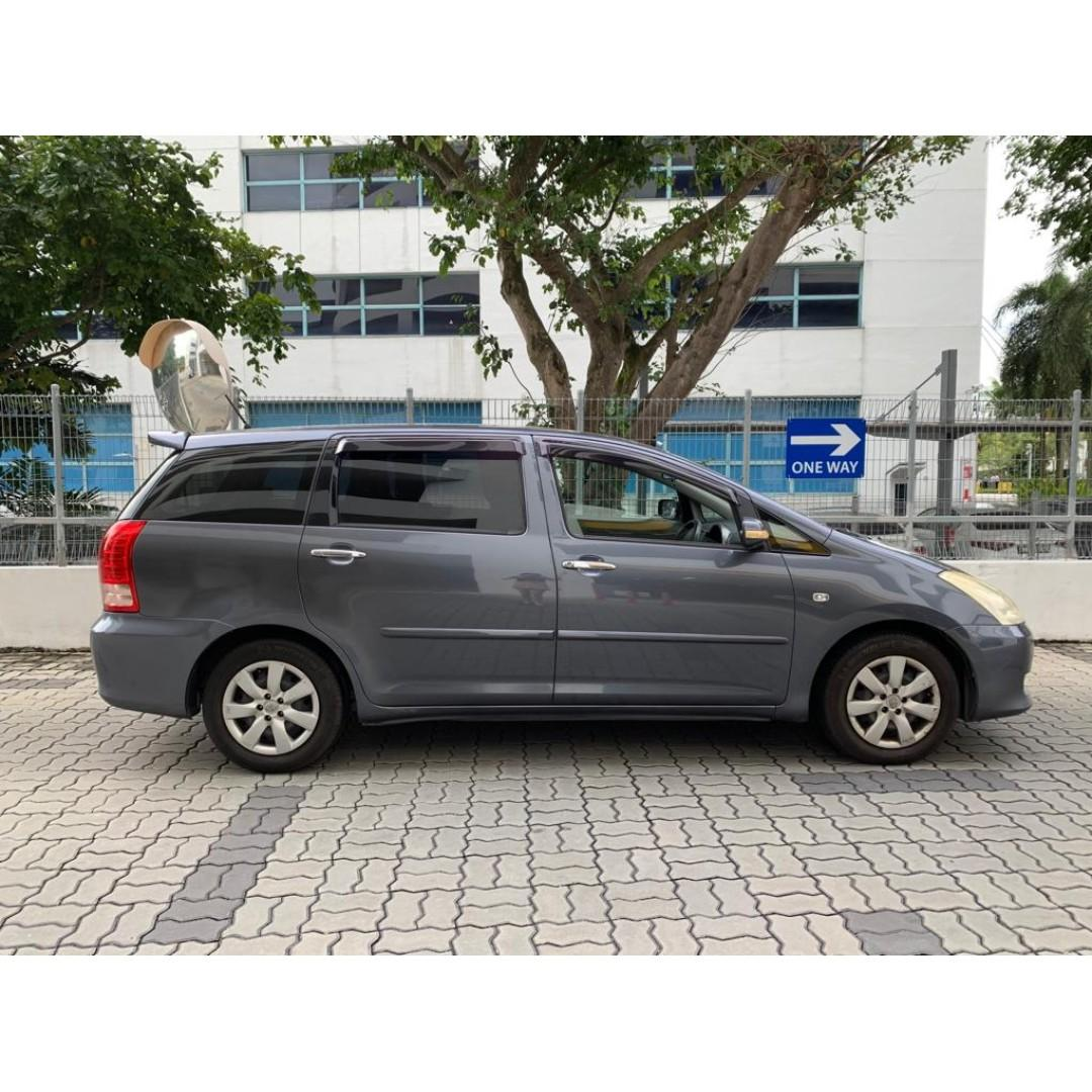 Toyota Wish 1.8A Car Rental For Grab Go Jek Personal Use Cheapest to rent