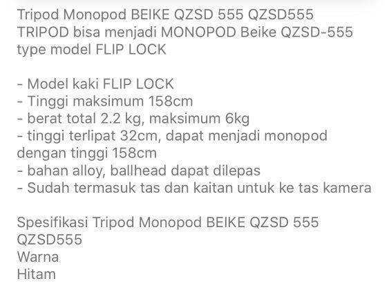Tripod beike qzsd - 555 bisa monopod
