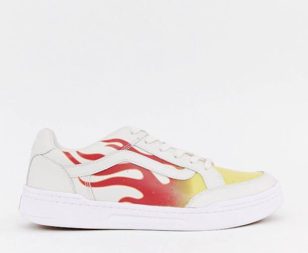 Vans Highland Flame Trainers in White