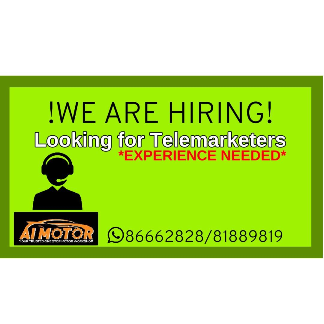 We are looking for Telemarketers! |HIRING| Experience Needed