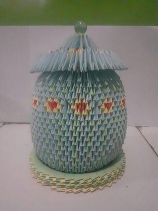 Origami 3 Dimensi Tempat Perhiasan