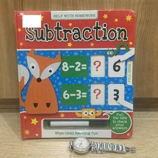Subtraction: Answer and Reveal Wipe Clean