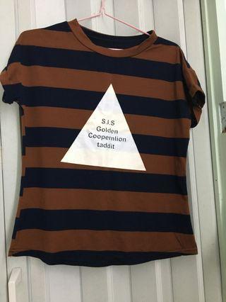 直間上衣 條紋striped T-Shirt