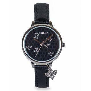 massilca watches - elvani black jam tangan wanita