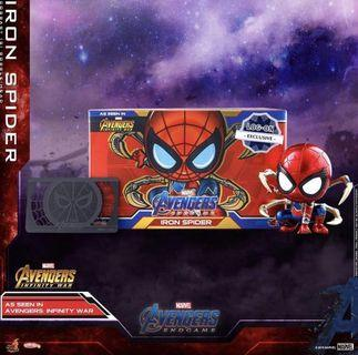 Hottoys cosbaby logon x iron spider marvel avengers endgame