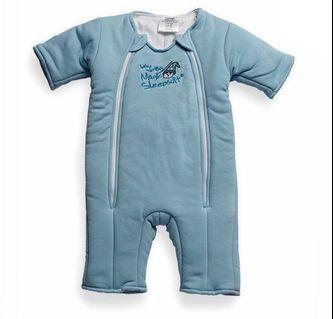 Baby Merlin Magic Sleepsuit - Swaddle transition product - Cotton Blue (Size Large 6-9months)