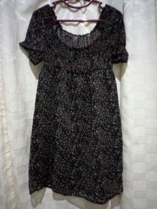Mididress Floral Black Bumil Friendly #maujam