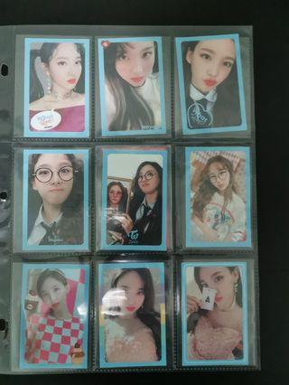 twice nayeon wil full set pcs