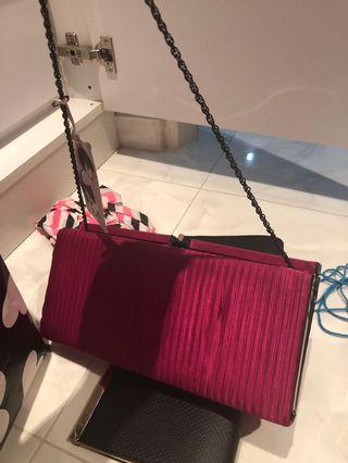 Pink clutch with tag (bought @30 pounds($53))