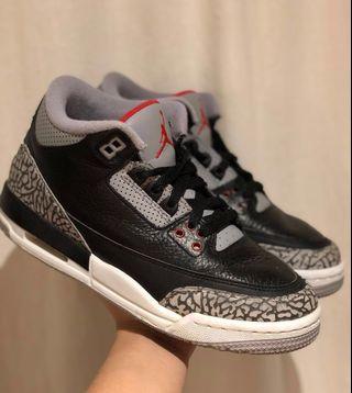 AJ Black Cement 3's