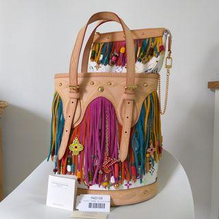 Louis Vuitton Multicolored Fringe Bucket Bag with pouch. LV 水桶手袋 #MTRcentral  #MTRkt   #MTRtw   #MTRcwb   #MTRtko    #MTRtst  #MTRssp  #MTRmk  #MTRst  #MTRtm