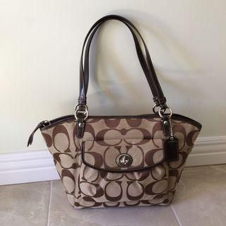 Coach Brown Monogram Tote Bag Brand New