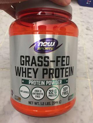 Grass Fed Whey Protein Powder, opened package.