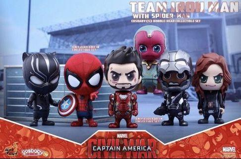 Hottoys cosbaby marvel avengers team Ironman