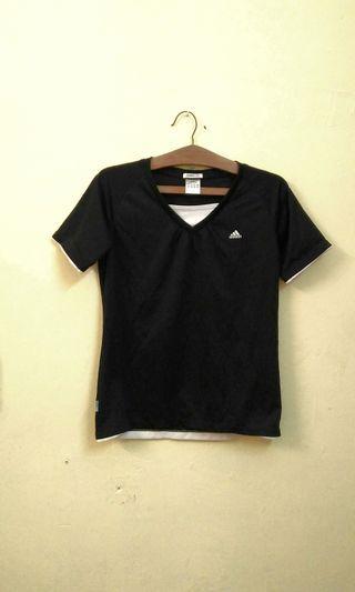 Authentic Adidas Black Top sport t-shirt sport shirt size M #GayaRaya