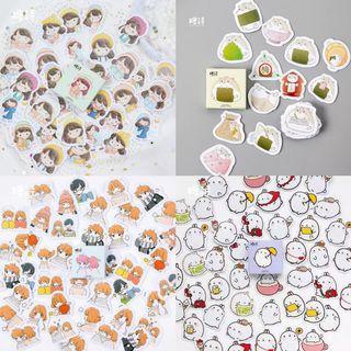 Couple/hamster/speech bubble/Bunny Sticker Box 45 Pieces
