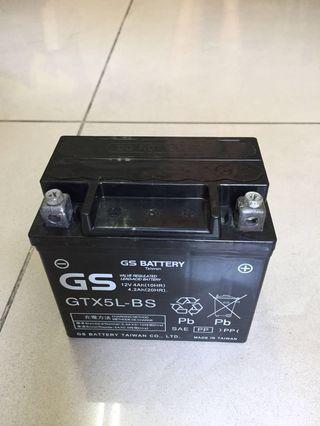 中古二手 機車電池 機車電瓶 統力gs gtx5l-bs 5號