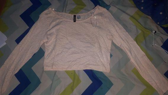 H&m crop blouse