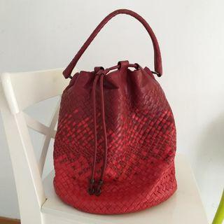 Bottega Veneta Limited Edition Bucket Bag 限量 红色真皮手袋 BV Leather Handbag #MTRcentral  #MTRkt   #MTRtw   #MTRcwb   #MTRtko    #MTRtst  #MTRssp  #MTRmk  #MTRst  #MTRtm