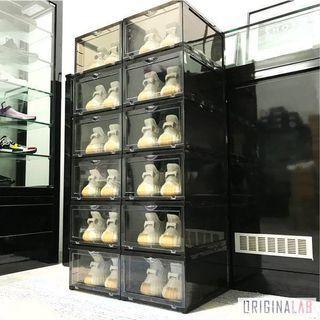 INSTOCK ORIGINALAB Stackable Hard Shoe Box Black
