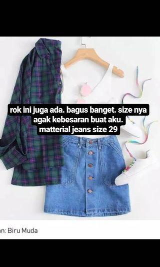 rok jeans rok mini rok lucu