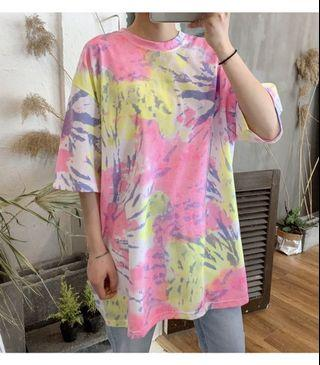 今年至潮韓國扎染T-shirt $288 One size 胸圍 124cm 衣長 81cm