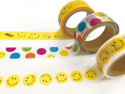 Smiley Masking Tape 半透明哈哈笑圖案膠紙帶